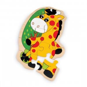 Puzzle in legno giraffa